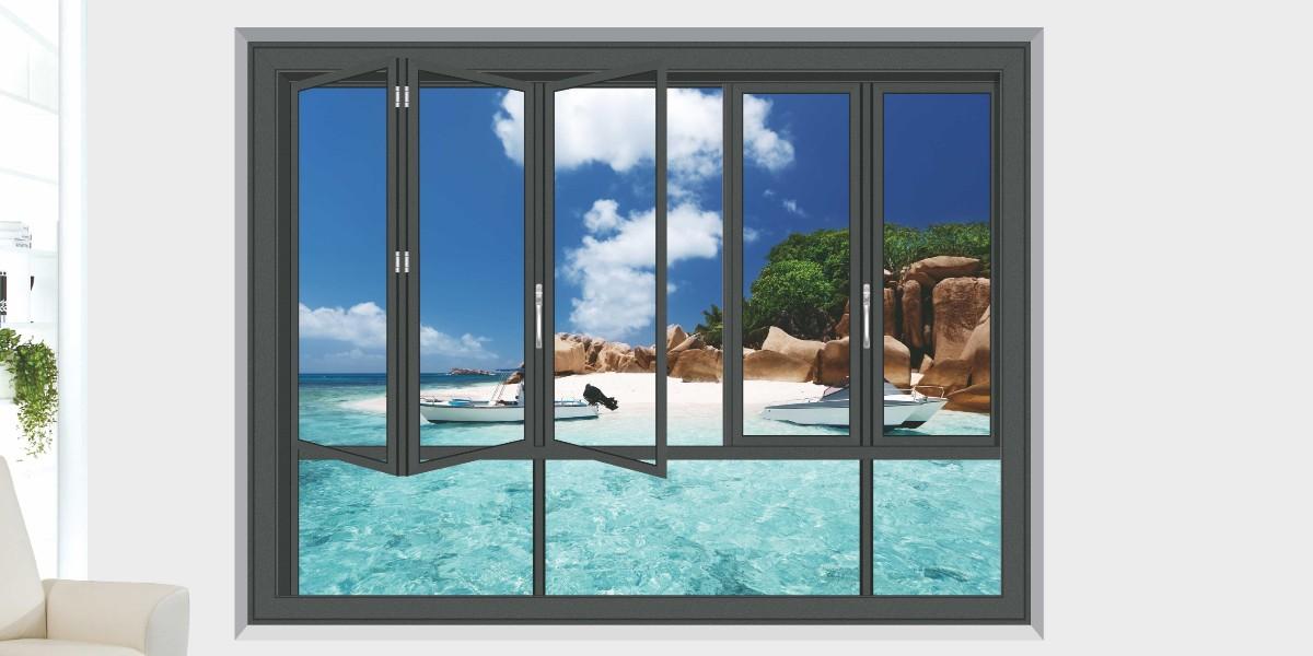 50窄框折叠窗